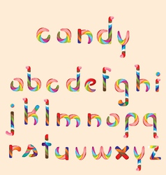 candy alphabet vector image