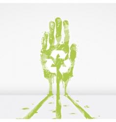 ecological warning design vector image