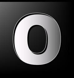 letter o sign design template element vector image vector image