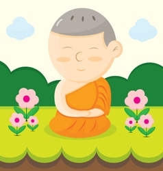 monk cartoon vector image