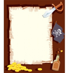 pirate background vector image
