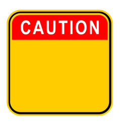 sticker caution safety sign vector image vector image