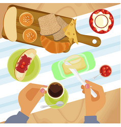 sweet menu for cofee break vector image