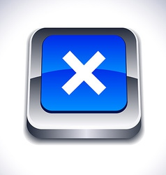 Abort 3d button vector