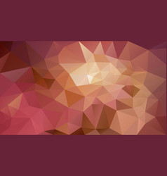 abstract irregular polygonal background brown pink vector image