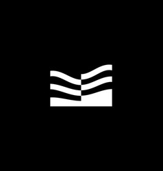 Abstract residence house logo design template vector
