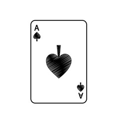 Ace of spades french playing cards related icon vector