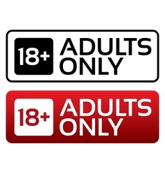 Adults only content button Age limit stamp vector image