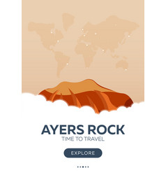 Australia ayers rock time to travel travel vector