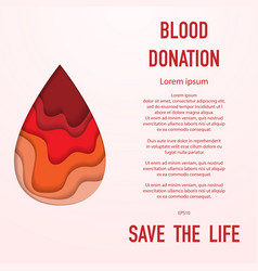 blood donation background vector image