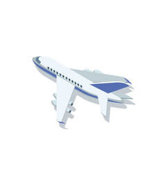 blue and white airplane vector image