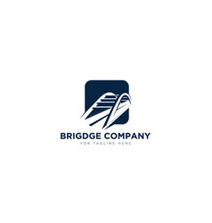 Bridge company logo designs negative space vector