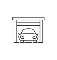 car on garage icon vector image