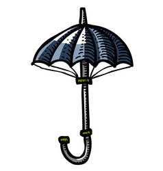 Cartoon image of umbrella icon shelter symbol vector