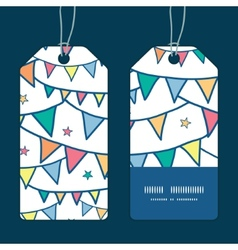 Colorful doodle bunting flags vertical stripe vector