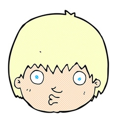 Comic cartoon curious boy vector