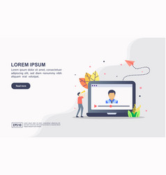 concept video marketing modern conceptual for vector image