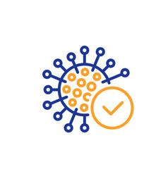 Confirmed coronavirus line icon covid-19 virus vector