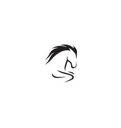 creative gallop horse logo vector image