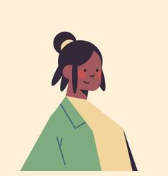 cute african american woman looking in camera vector image