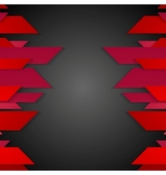 Dark red corporate abstract tech background vector image
