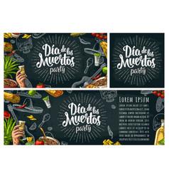 Dia de los muertos lettering and mexican vector