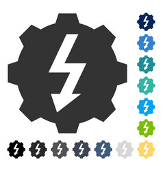 electric gear icon vector image