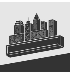 Emblem City vector image