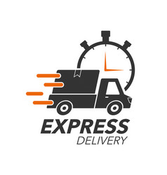 Express delivery icon concept pickup with stop vector
