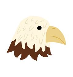 Face character eagle isolated on white background vector