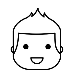 face little boy isolated icon design vector image