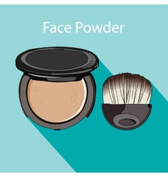 Face powder style flat vector