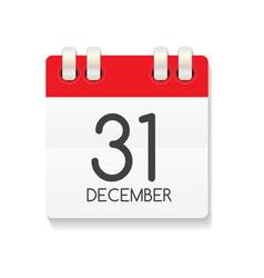 Flat calendar icon 31 december vector