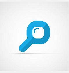 Flat magnifying glass icon vector