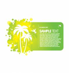 Frame with tropical design vector
