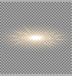 glowing light with flying comets golden color vector image