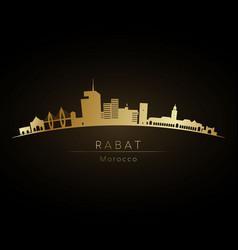 Golden logo rabat skyline silhouette vector
