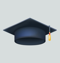 Graduation cap excellent diploma student genius vector