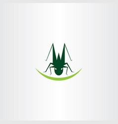 grasshopper logo icon element symbol vector image