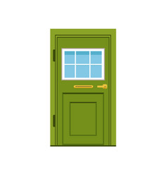 green front door to house closed elegant door vector image
