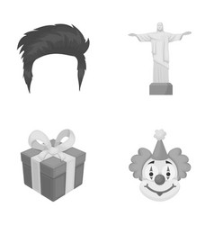 Hairdresser religion and other monochrome icon in vector