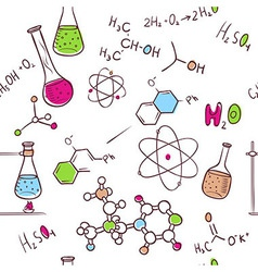 Hand draw chemistry pattern vector