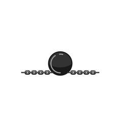 handcuffs and iron balls logo designs inspiration vector image