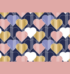 hearts color seamless pattern vector image
