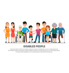 help disabled person happy disability people vector image