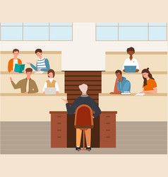 Higher education high school lecture concept vector
