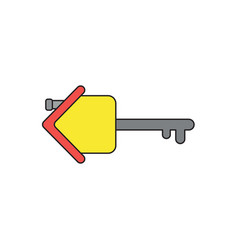 Icon concept house with key black outlines and vector
