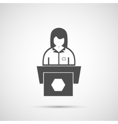 Icon woman behind the podium vector