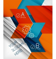 Infographic abstract background vector image