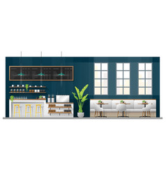 Interior scene of modern coffee shop vector